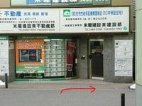 改札前の不動産屋