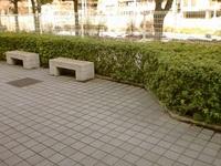 当院前のベンチ